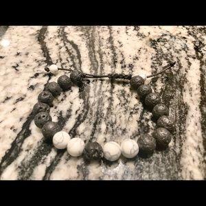 🌋White Howlite Diffuser Bracelet